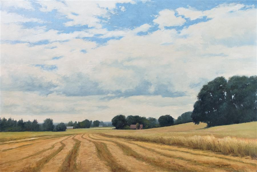 Original art for sale at UGallery.com | Helvetia Farm View by DON BISHOP | $1,725 | Oil painting | 24' h x 36' w | http://www.ugallery.com/oil-painting-helvetia-farm-view