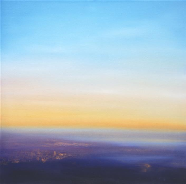 Original art for sale at UGallery.com | Above the Earth by ELIZABETH AGRESTA | $1,275 | Oil painting | 24' h x 24' w | http://www.ugallery.com/oil-painting-above-the-earth