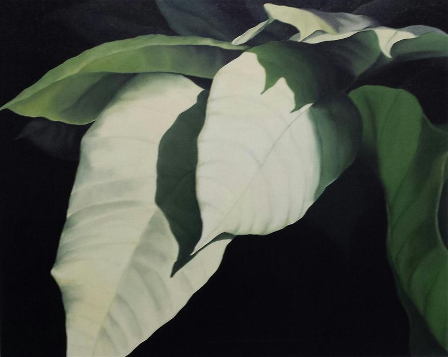 Original art for sale at UGallery.com | Poinsettia by SUSAN CARLO | $1,300 | Oil painting | 24' h x 30' w | http://www.ugallery.com/oil-painting-poinsettia-42399