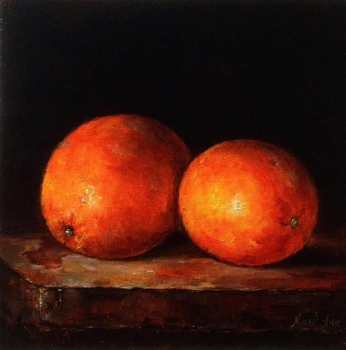 Discover Original Art by Nina R Aide | Orange Glow oil painting | Art for Sale Online at UGallery