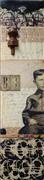 Non-representational art,Vintage art,mixed media artwork,B Is For...