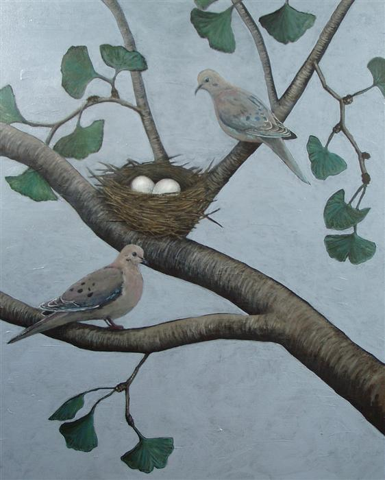 Original art for sale at UGallery.com | The Beauty That Exists in My Own Backyard by JENNIFER ROSS | $900 | Acrylic painting | 30' h x 24' w | http://www.ugallery.com/acrylic-painting-the-beauty-that-exists-in-my-own-backyard