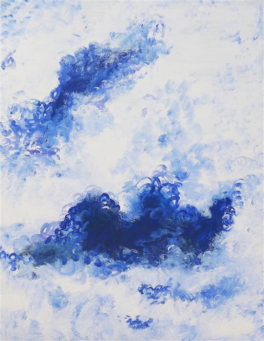 Discover Original Art by Piero Manrique   Blue Bubbles acrylic painting   Art for Sale Online at UGallery