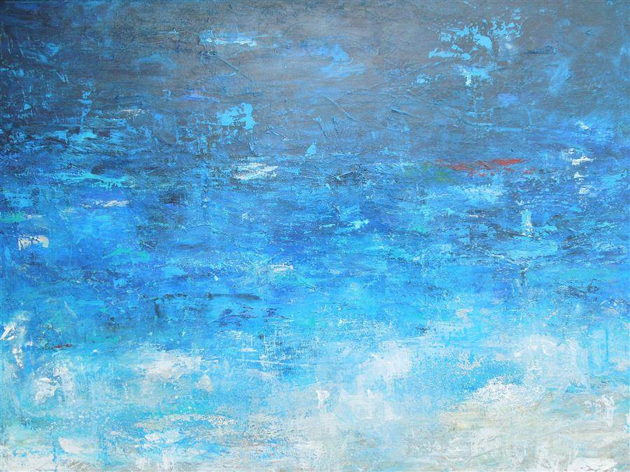 Discover Original Art by Hilma Koelman | Blue Lagoon acrylic painting | Art for Sale Online at UGallery