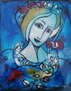 Expressionism art,Fantasy art,People art,Representational art,mixed media artwork,Tenderness