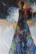 Expressionism art,People art,Fashion art,Representational art,oil painting,In the City Lights