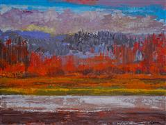 Discover Original Art by Sidonie Caron | Fall acrylic painting | Art for Sale Online at UGallery