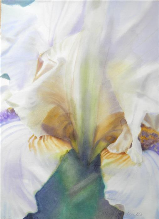 Discover Original Art by Cathe Hendrick | Light Iris watercolor painting | Art for Sale Online at UGallery