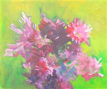 Expressionism art,Impressionism art,Flora art,Representational art,acrylic painting,War of the Roses