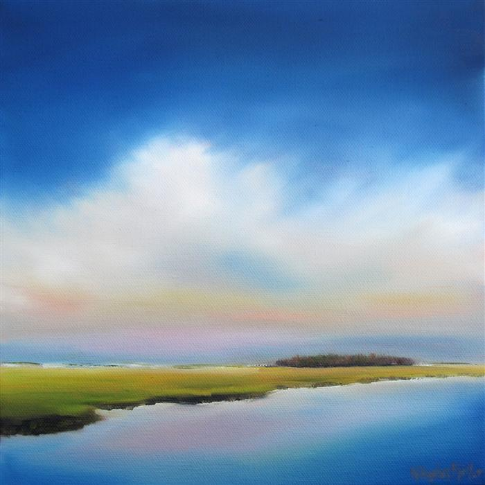 Original art for sale at UGallery.com   Evening Marsh by NANCY HUGHES MILLER   $325   Oil painting   10' h x 10' w   http://www.ugallery.com/oil-painting-evening-marsh
