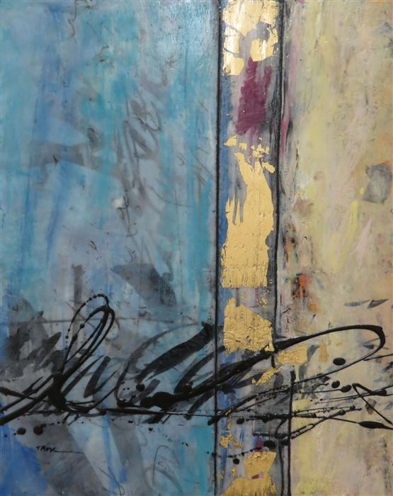Original art for sale at UGallery.com | Inner Peace by TERI MUSE | $475 | Encaustic artwork | 20' h x 16' w | http://www.ugallery.com/encaustic-artwork-inner-peace