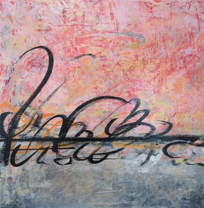 Original art for sale at UGallery.com | Reflecting on Grace by TERI MUSE | $1,125 | Mixed media artwork | 30' h x 30' w | http://www.ugallery.com/mixed-media-artwork-reflecting-on-grace