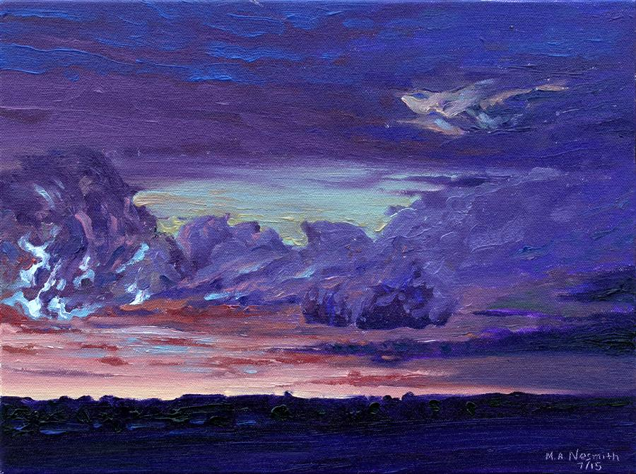 Discover Original Art by Mark Nesmith | Stormy Night oil painting | Art for Sale Online at UGallery