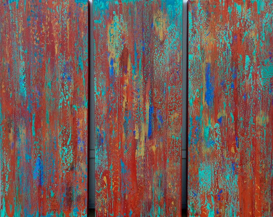 Original art for sale at UGallery.com | Tango (Triptych) by ALICIA DUNN | $1,650 | Mixed media artwork | 30' h x 36' w | http://www.ugallery.com/mixed-media-artwork-tango