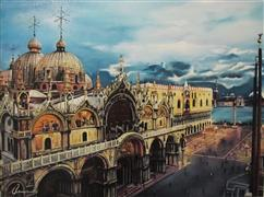 Architecture art,Travel art,Classical art,Representational art,oil painting,Stunning Venice