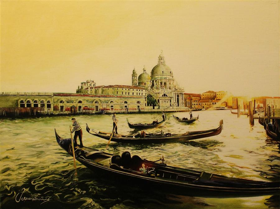 Original art for sale at UGallery.com | Summer in Venice by NEDIM OMERCAUSEVIC | $1,075 | Oil painting | 18' h x 24' w | http://www.ugallery.com/oil-painting-summer-in-venice
