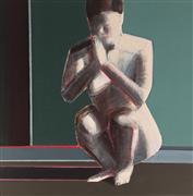 Expressionism art,People art,Surrealism art,Representational art,oil painting,Silence