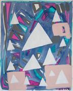 Abstract art,Non-representational art,Modern  art,acrylic painting,Jewel Tones