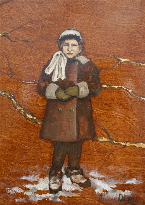 Discover Original Art by Abigail Drapkin | The Dog Wrangler's Daughter oil painting | Art for Sale Online at UGallery