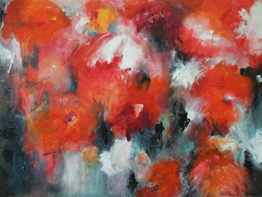 Discover Original Art by Hilma Koelman | Rhapsody of Flowers acrylic painting | Art for Sale Online at UGallery
