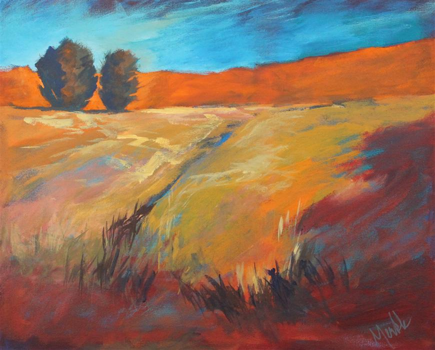 Original art for sale at UGallery.com | High Desert by NANCY MERKLE | $1,350 | Acrylic painting | 24' h x 30' w | http://www.ugallery.com/acrylic-painting-high-desert
