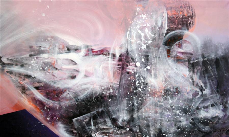 Original art for sale at UGallery.com | Dreamscape Mindscape Beyond by KLOSKA OVIDIU | $2,500 | Acrylic painting | 28' h x 50' w | http://www.ugallery.com/acrylic-painting-dreamscape-mindscape-beyond