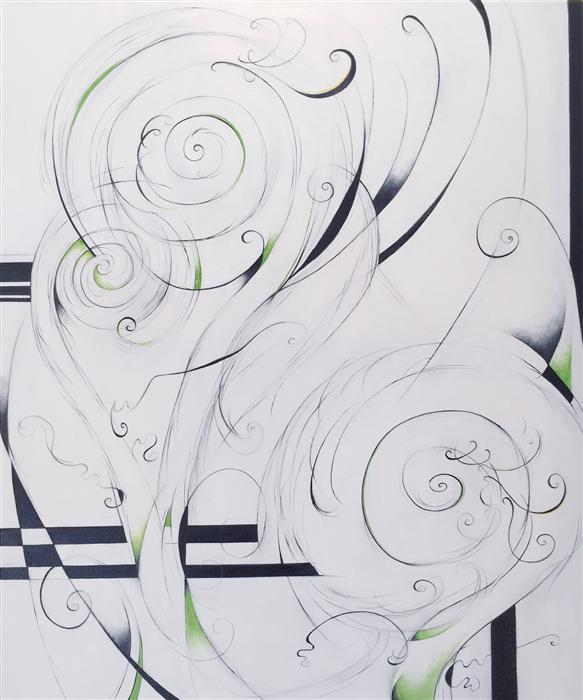 Original art for sale at UGallery.com | Fiddlehead Ferns by SUMNER CRENSHAW | $475 | Oil painting | 24' h x 20' w | http://www.ugallery.com/oil-painting-fiddlehead-ferns