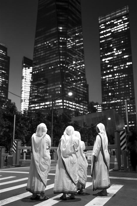 Original art for sale at UGallery.com | Praying Nuns at Ground Zero by RICARDO PERINI | $170 |  | ' h x ' w | http://www.ugallery.com/photography-praying-nuns-at-ground-zero