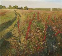 Impressionism art,Landscape art,Representational art,oil painting,Field