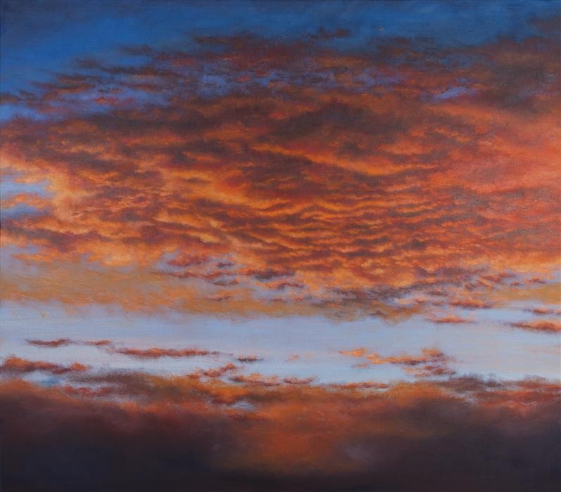 Original art for sale at UGallery.com | Lenticular Cathedral by LAURA GUESE | $5,175 | Oil painting | 56' h x 64' w | http://www.ugallery.com/oil-painting-lenticular-cathedral