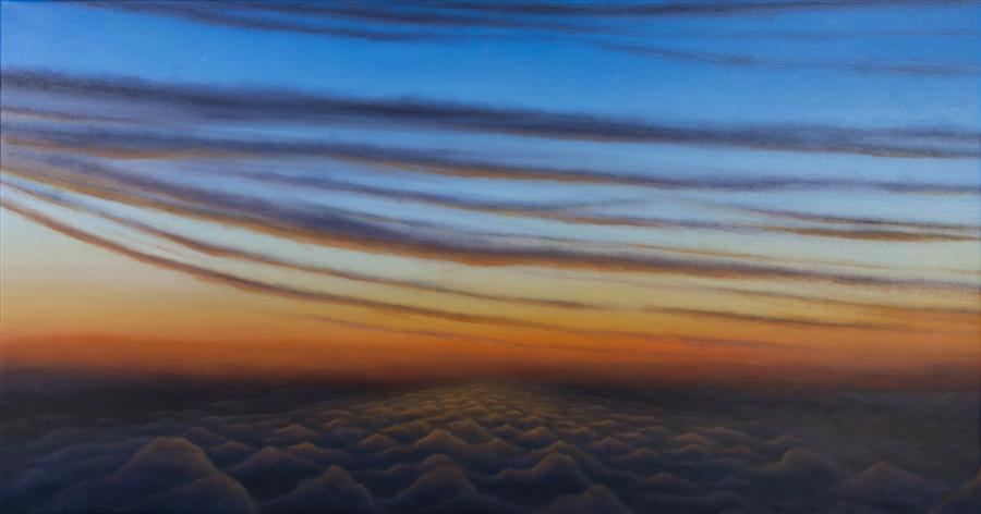 Discover Original Art by Laura Guese | Daybreak: Flight 7681 oil painting | Art for Sale Online at UGallery
