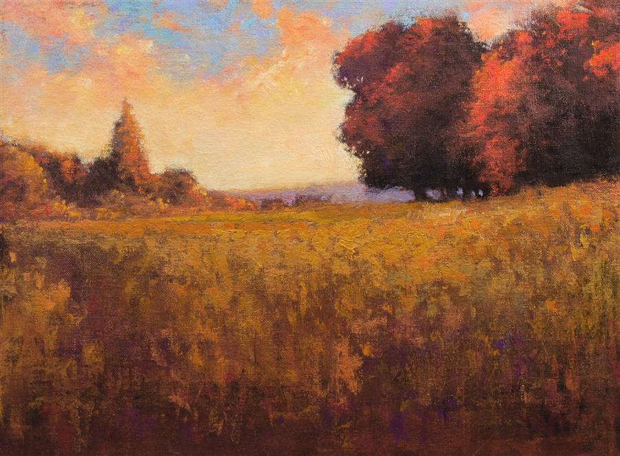 Original art for sale at UGallery.com | Autumn Colors by DON BISHOP | $550 | Oil painting | 12' h x 16' w | http://www.ugallery.com/oil-painting-autumn-colors-43259