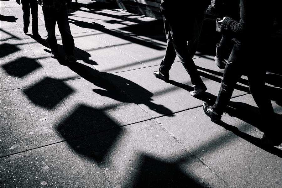 Discover Original Art by Ricardo Perini | Pedestrians at Times Square photography | Art for Sale Online at UGallery