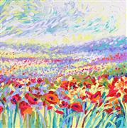 Discover Original Art by Iris Scott | Study - For Poppies of Oz oil painting | Art for Sale Online at UGallery