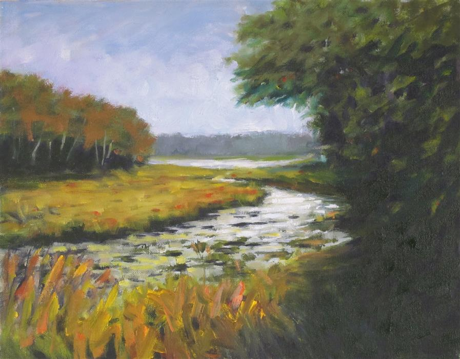 Original art for sale at UGallery.com | Path to the Lake by DAVID RICKERT | $600 | Oil painting | 11' h x 14' w | http://www.ugallery.com/oil-painting-path-to-the-lake-43295
