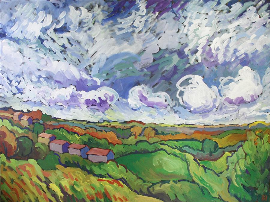 Original art for sale at UGallery.com   Clouds by ROBERT HOFHERR   $1,175   Acrylic painting   30' h x 40' w   http://www.ugallery.com/acrylic-painting-clouds