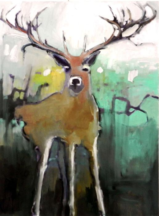 Discover Original Art by Mary Pratt | Deer oil painting | Art for Sale Online at UGallery