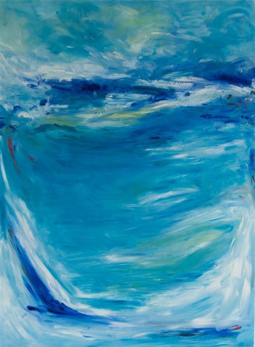 Discover Original Art by Kajal Zaveri | Blue oil painting | Art for Sale Online at UGallery
