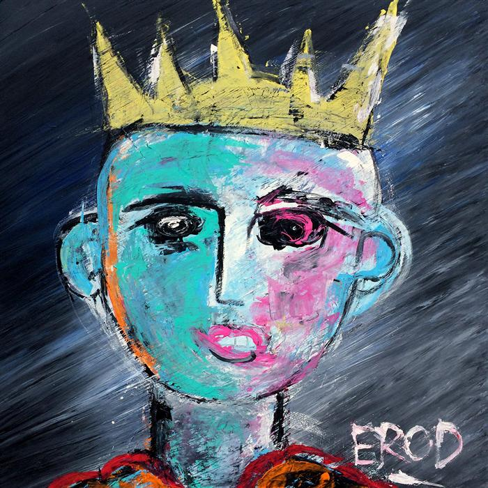 Original art for sale at UGallery.com | King for a Day by ROBERT EROD | $3,175 | Mixed media artwork | 50' h x 50' w | http://www.ugallery.com/mixed-media-artwork-king-for-a-day