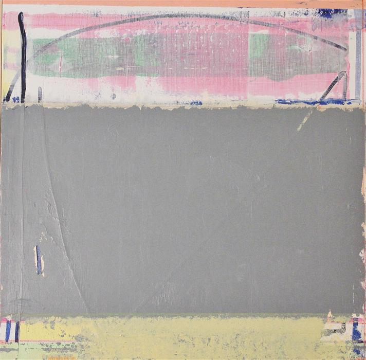 Original art for sale at UGallery.com | Field of Gray While Magenta Waits by JOEY KOROM | $1,125 | Acrylic painting | 30' h x 30' w | http://www.ugallery.com/acrylic-painting-field-of-gray-while-magenta-waits