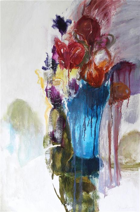 Discover Original Art by Naoko Paluszak | Poetic Bouquet oil painting | Art for Sale Online at UGallery