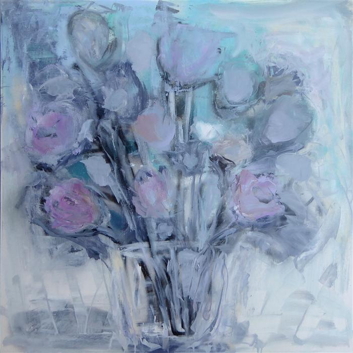Discover Original Art by Gloria Blatt | Winter Flowers oil painting | Art for Sale Online at UGallery