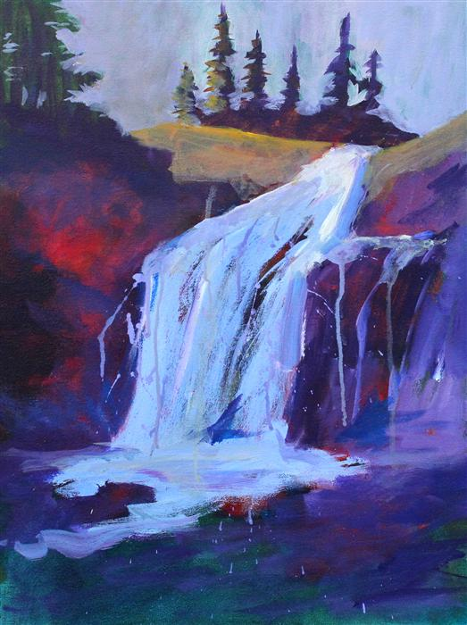 Discover Original Art by Nancy Merkle | The Falls acrylic painting | Art for Sale Online at UGallery