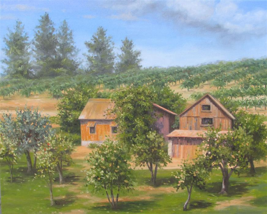 Discover Original Art by Ron Kenyon | Boeger Winery oil painting | Art for Sale Online at UGallery