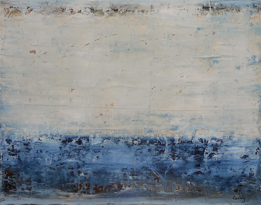 Original art for sale at UGallery.com | Coastline by LISA CARNEY | $725 | Acrylic painting | 24' h x 30' w | http://www.ugallery.com/acrylic-painting-coastline