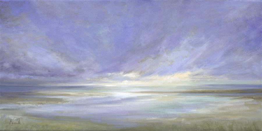 Original art for sale at UGallery.com | Coastal Light II by SHEILA FINCH | $1,650 | Oil painting | 12' h x 24' w | http://www.ugallery.com/oil-painting-coastal-light-ii