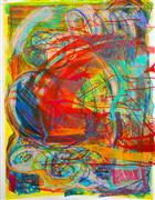 Abstract art,Expressionism art,Non-representational art,printmaking,Under Water 1