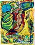 Abstract art,Expressionism art,Non-representational art,printmaking,Under Water 2