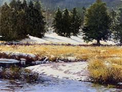 Landscape art,Nature art,Classical art,Realism art,Representational art,oil painting,Horseshoe Creek
