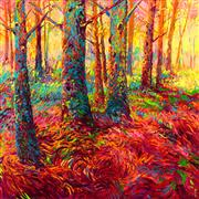 Discover Original Art by Iris Scott | Redwoods oil painting | Art for Sale Online at UGallery